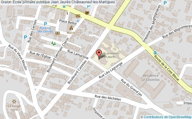 plan École Primaire Publique Jean Jaurès Châteauneuf-les-martigues Châteauneuf-les-Martigues