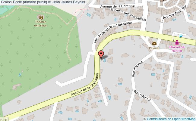 plan École Primaire Publique Jean Jaurès Peynier Peynier