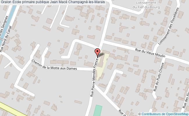 plan École Primaire Publique Jean Macé Champagné-les-marais Champagné-les-Marais