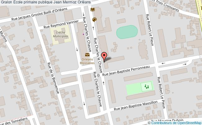 plan École Primaire Publique Jean Mermoz Orléans Orléans