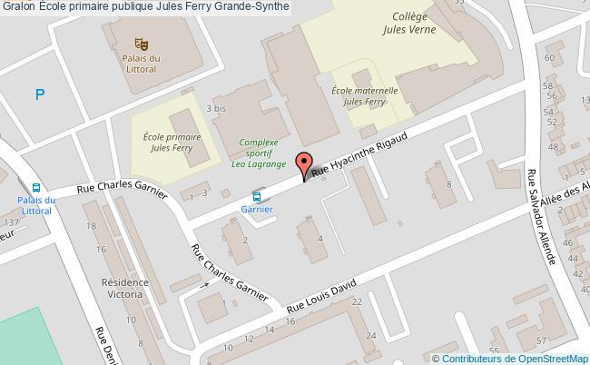 plan École Primaire Publique Jules Ferry Grande-synthe Grande-Synthe