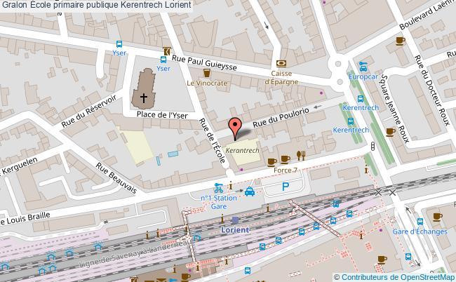 plan École Primaire Publique Kerentrech Lorient Lorient