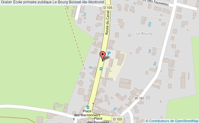 plan École Primaire Publique Le Bourg Boisset-lès-montrond Boisset-lès-Montrond