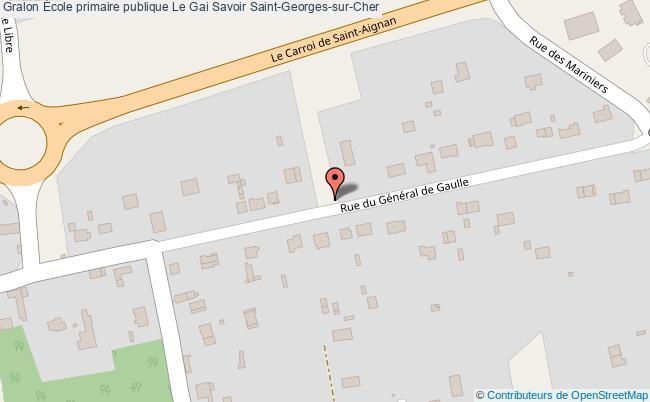plan École Primaire Publique Le Gai Savoir Saint-georges-sur-cher Saint-Georges-sur-Cher