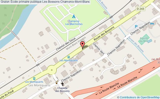 plan École Primaire Publique Les Bossons Chamonix-mont-blanc Chamonix-Mont-Blanc