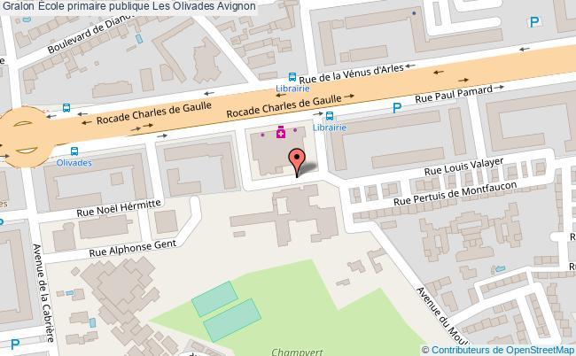 plan École Primaire Publique Les Olivades Avignon Avignon