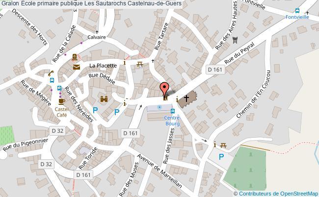 plan École Primaire Publique Les Sautarochs Castelnau-de-guers Castelnau-de-Guers