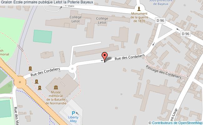 plan École Primaire Publique Letot La Poterie Bayeux Bayeux