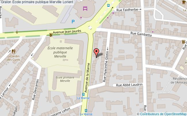 plan École Primaire Publique Merville Lorient Lorient