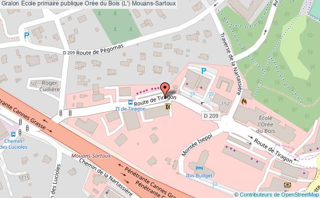 plan École Primaire Publique Orée Du Bois (l') Mouans-sartoux Mouans-Sartoux