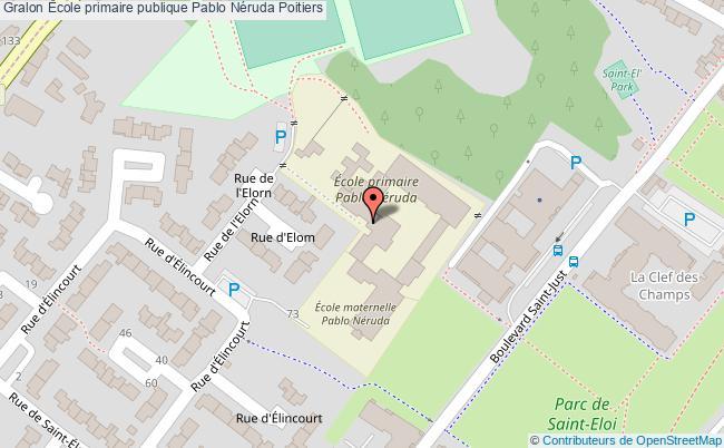 plan École Primaire Publique Pablo Néruda Poitiers Poitiers
