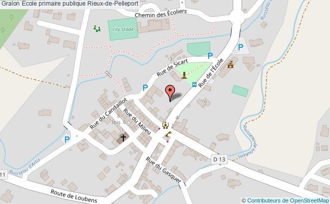 plan École Primaire Publique Rieux-de-pelleport Rieux-de-Pelleport