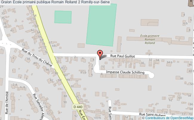plan École Primaire Publique Romain Rolland 2 Romilly-sur-seine Romilly-sur-Seine