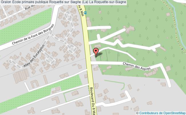 plan École Primaire Publique Roquette Sur Siagne (la) La Roquette-sur-siagne La Roquette-sur-Siagne