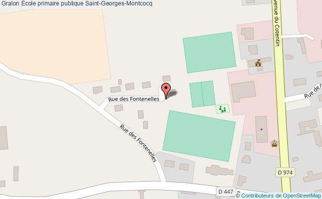 plan École Primaire Publique Saint-georges-montcocq Saint-Georges-Montcocq