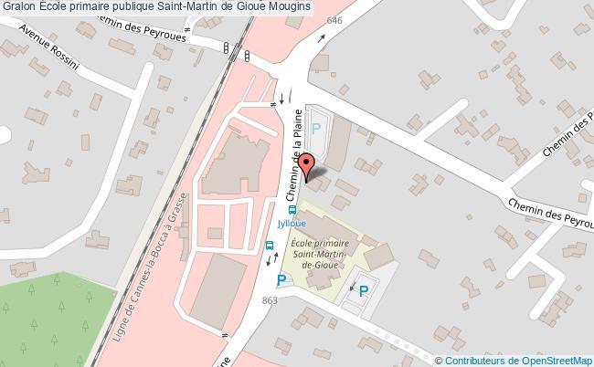 plan École Primaire Publique Saint-martin De Gioue Mougins Mougins