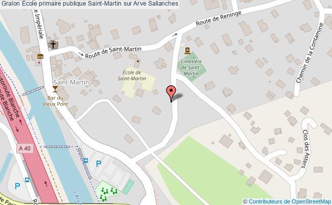 plan École Primaire Publique Saint-martin Sur Arve Sallanches Sallanches