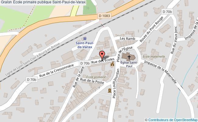plan École Primaire Publique Saint-paul-de-varax Saint-Paul-de-Varax