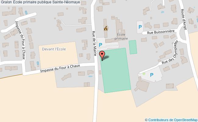 plan École Primaire Publique Sainte-néomaye Sainte-Néomaye