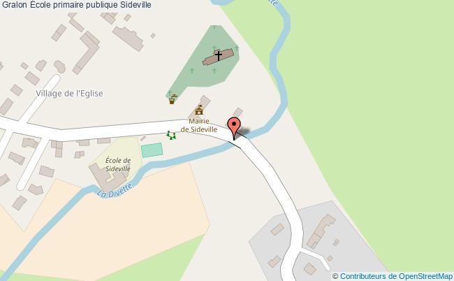 plan École Primaire Publique Sideville Sideville