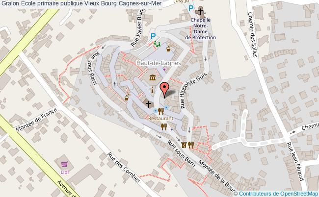 plan École Primaire Publique Vieux Bourg Cagnes-sur-mer Cagnes-sur-Mer