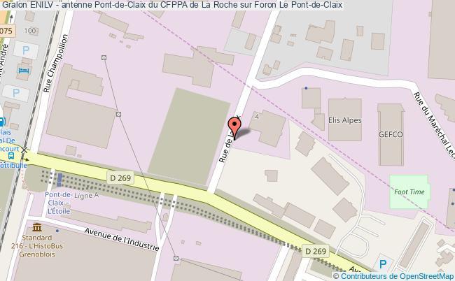 plan Enilv - Antenne Pont-de-claix Du Cfppa De La Roche Sur Foron Le Pont-de-claix Le Pont-de-Claix