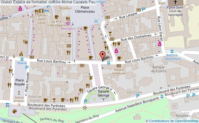 plan Espace De Formation Coiffure Michel Cazalets Pau Pau