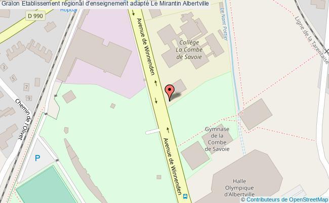 plan Etablissement Régional D'enseignement Adapté Le Mirantin Albertville Albertville