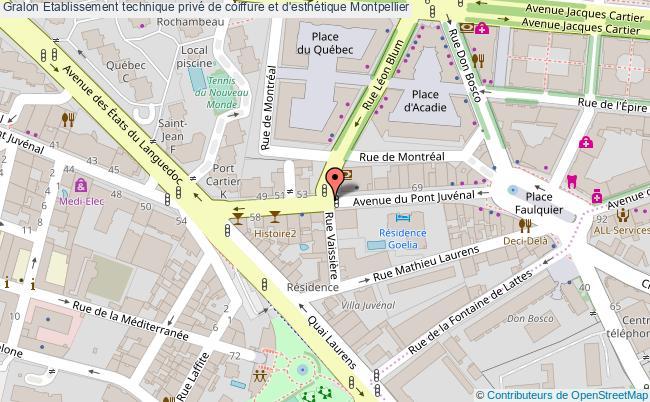 plan Etablissement Technique Privé De Coiffure Et D'esthétique Montpellier Montpellier