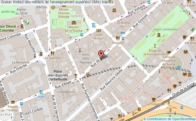 plan Institut Des Métiers De L'enseignement Supérieur (ims) Nantes Nantes