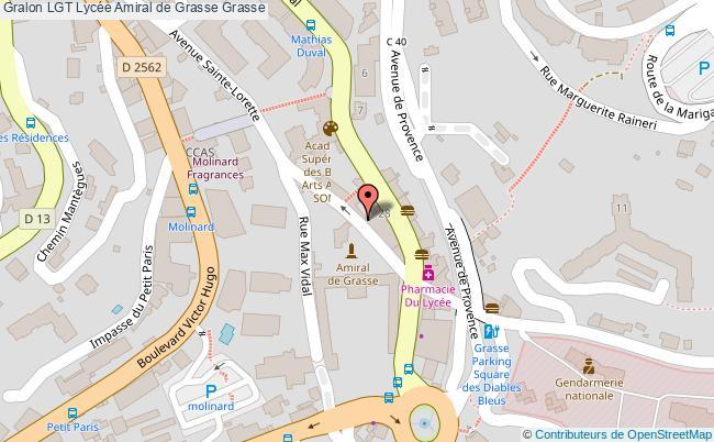 plan Lgt Lycée Amiral De Grasse Grasse Grasse