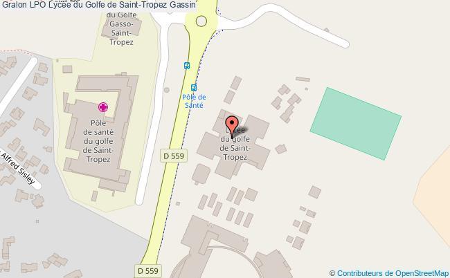 plan Lpo Lycée Du Golfe De Saint-tropez Gassin Gassin