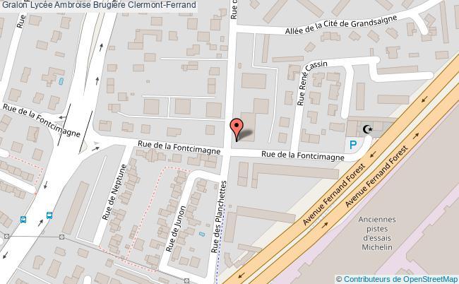 plan Lycée Ambroise Brugière Clermont-ferrand Clermont-Ferrand