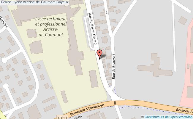 plan Lycée Arcisse De Caumont Bayeux Bayeux