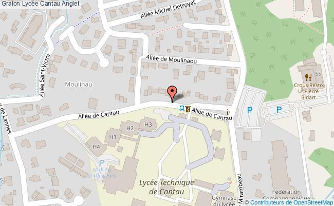 plan Lycée Cantau Anglet Anglet
