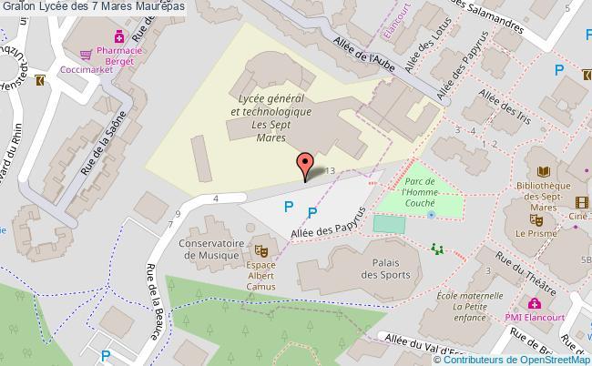 plan Lycée Des 7 Mares Maurepas Maurepas