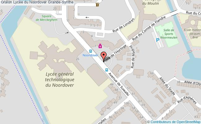 plan Lycée Du Noordover Grande-synthe Grande-Synthe