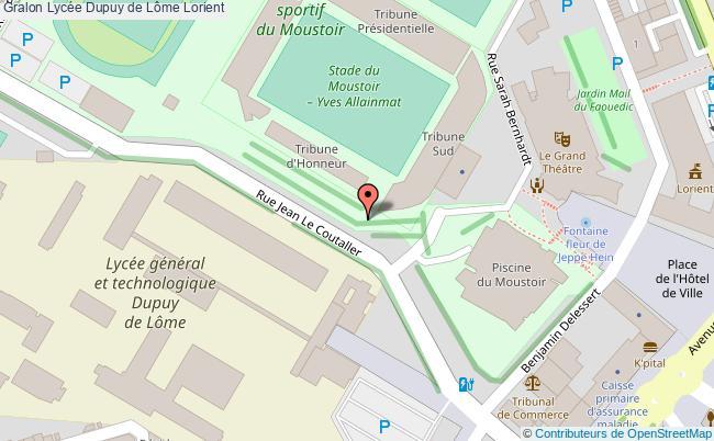 plan Lycée Dupuy De Lôme Lorient Lorient