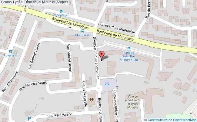 plan Lycée Emmanuel Mounier Angers Angers