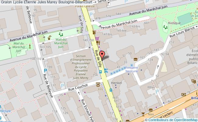 plan Lycée Etienne Jules Marey Boulogne-billancourt Boulogne-Billancourt