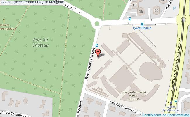plan Lycée Fernand Daguin Mérignac Mérignac