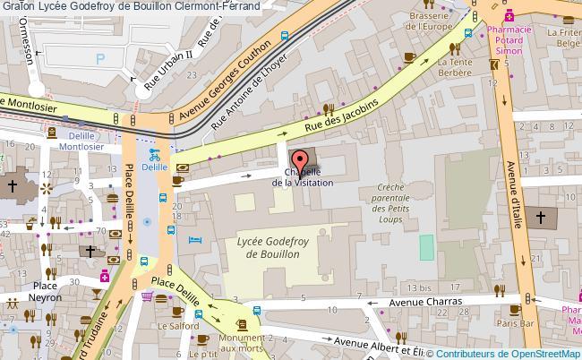 plan Lycée Godefroy De Bouillon Clermont-ferrand Clermont-Ferrand