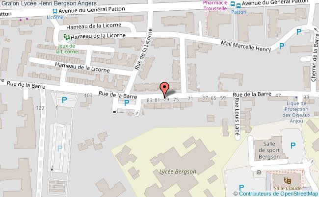 plan Lycée Henri Bergson Angers Angers