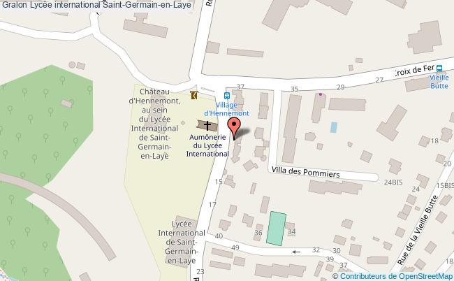 plan Lycée International Saint-germain-en-laye Saint-Germain-en-Laye