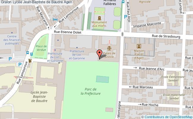 plan Lycée Jean-baptiste De Baudre Agen Agen