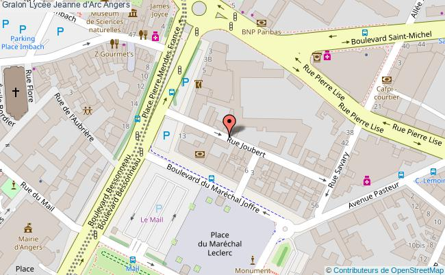 plan Lycée Jeanne D'arc Angers Angers