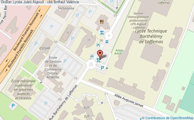 plan Lycée Jules Algoud - Cité Briffaut Valence Valence