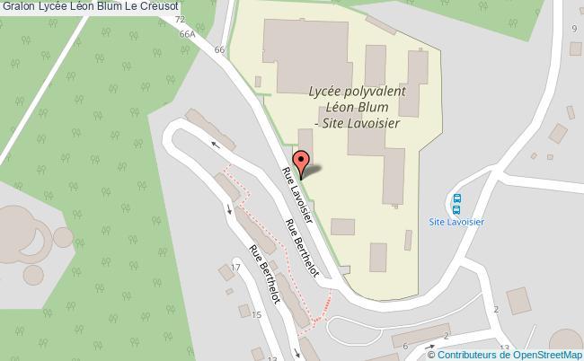 plan Lycée Léon Blum Le Creusot Le Creusot