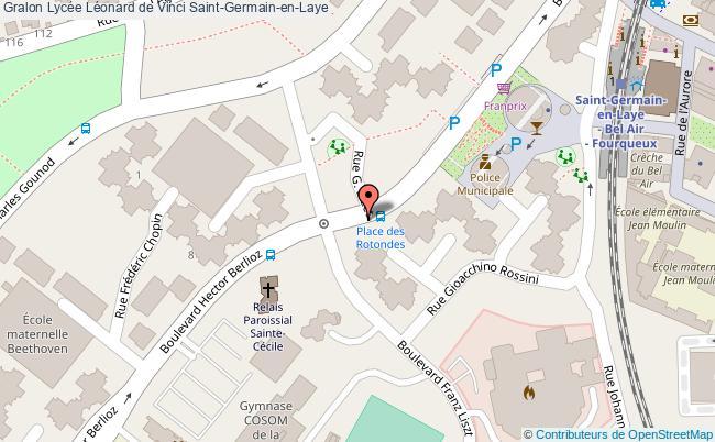 plan Lycée Léonard De Vinci Saint-germain-en-laye Saint-Germain-en-Laye