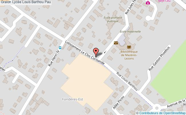 plan Lycée Louis Barthou Pau Pau